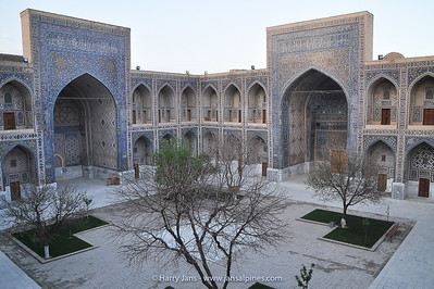 courtyard in Ulugh Bek Madrasah Madrasah (Madrasah in Arabic = school)