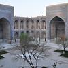 courtyard in Ulugh Bek Madrasah Madrasah (Madrasah in Arabic = school)