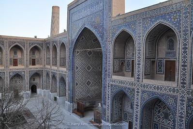 courtyard in Ulugh Bek Madrasah Madrasah (Madrasah in Arabic = school) Madrasah