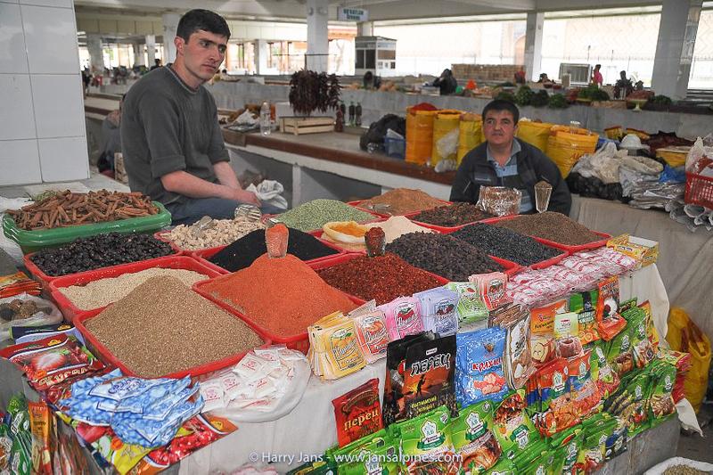 herbs at Samarkand market
