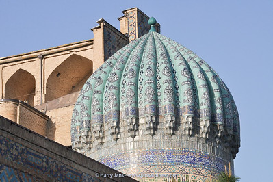 detail dome Sher-Dor Madrasah