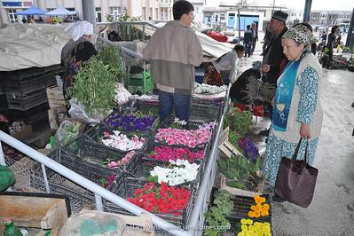 flowers at Samarkand market