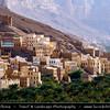 Middle East - Yemen - Hadramaut Governorate - Wadi Dawan - Beautiful desert valley with stunning historical mud brick buildings