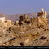 Middle East - Yemen - Hadramaut Governorate - Wadi Dawan - Beautiful desert valley with stunning historical mud brick buildings