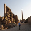 Two obelisks in Karnak, the one on the left made by Akhenaten