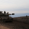 Israli Military patrolling the syrian border in the Golan Heights