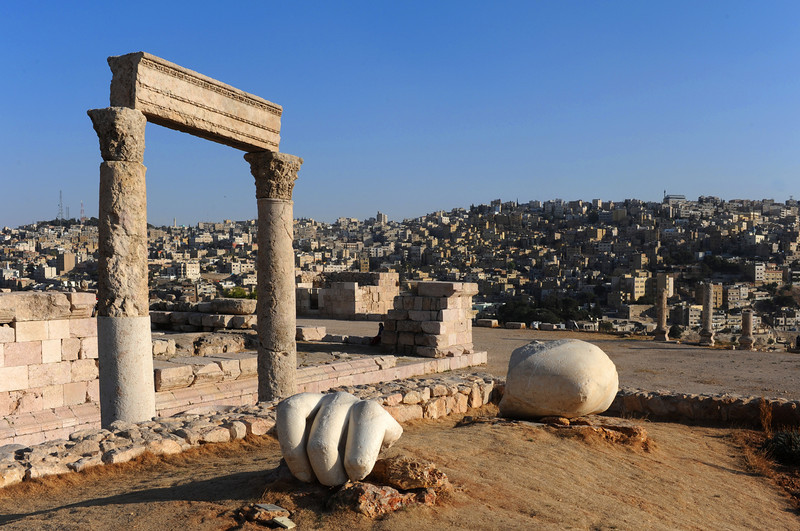 Amman - Pieces of the Hercules statue