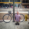 LA,  2014 -  Big bike, little man