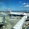 Heathrow Airport: Terminal 5: Concourse C: Double decker Airbus A380