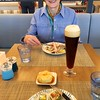 Viking Sea: World Cafe: Kate with beer and dinner
