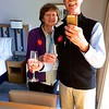 Viking Sea: Selfie on room with welcome champagne