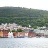 Bergen: Wordiness: Toward Bryggen and top of Fløibanen