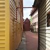 Bergen: Bryggen: Alley between buildings
