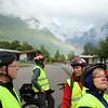 Geiranger: Rainbow over bikers