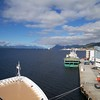 Molde: Tied up at Moldegård Cruisepier, looking west with Viking Star arriving