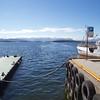 Molde: Hamnegata: Docks, toward mountains