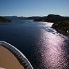 Viking Sea: In narrow channel near Dolma, through Explorer's Lounge windows