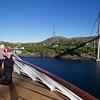 Viking Sea: Near bridge at Rørvik with other photographers