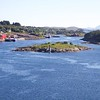 Viking Sea: At Rørvik with Sjø-Sara statue on Småholman