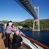 Viking Sea: Under bridge at Rørvik with other photographers