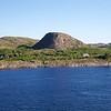 Viking Sea: Sharp hill along channel near Rørvik