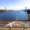 Viking Sea: Near bridge at Rørvik with Explorers' Lounge deck and bow