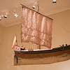 Tromsø University Museum: Hanging ship in church exhibit