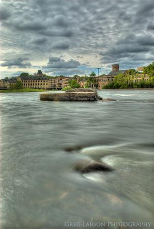 Fox River, Appleton, Wisconsin.  HDR (High Dynamic Range) Composite