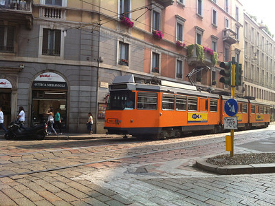 Milan has a really good public transit system.  I wish the buses in Naples were so reliable!