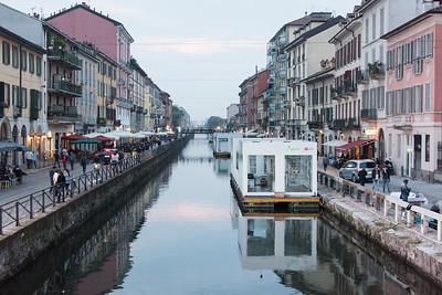 Navigli Distric (canal) in Milan