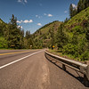 Distant Milepost Hwy 95 Winchester Grade Idaho