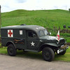 US ambulance at Irwell Vale during the ELR war weekend on 26th May 2007