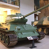 Russian T34 WW2 tank at the Imperial War Museum on 16th December 2010