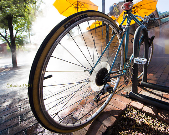 bicycle in steam