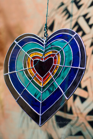stained glass heart 9913cf