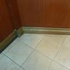 Typical door jamb.