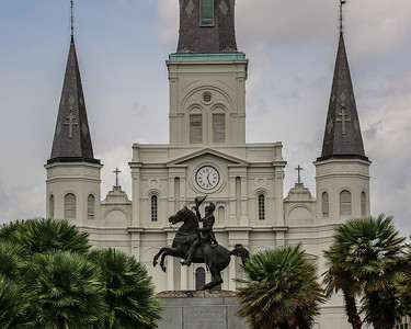 St. Louis Cathedral behind Jackson Square in New Orleans