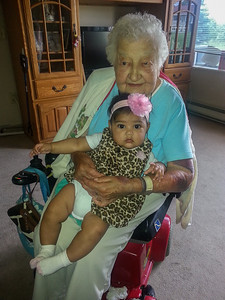 Alianna with her Great-Great Grandmother Sophie Milos
