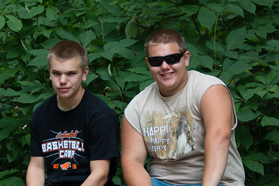 Charlie and Clayton at the Milwaukee County Zoo
