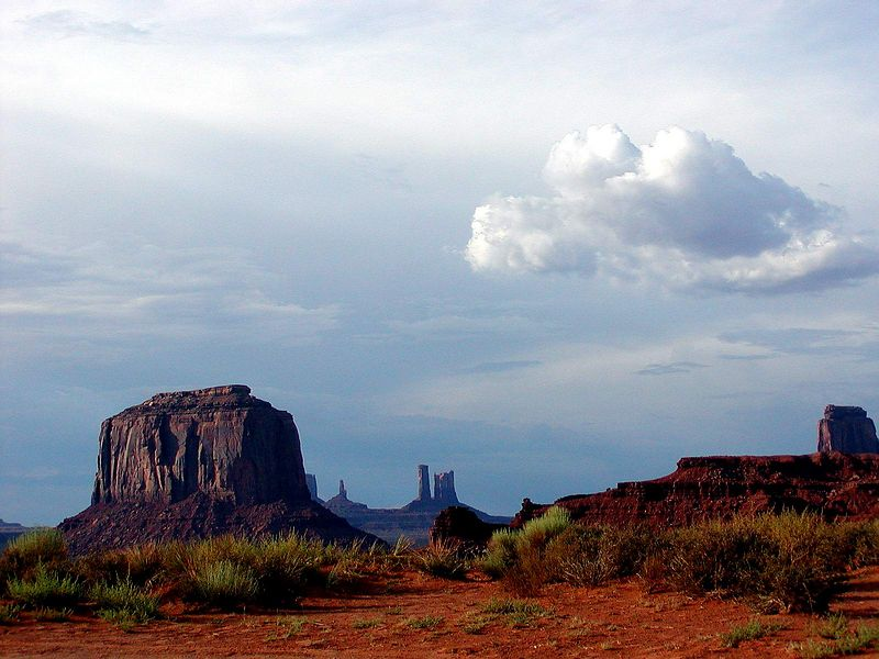 If this scenery looks familiar to you it's because Monument Valley is where many scenes from John Wayne (and other) Westerns were filmed