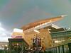 Target Field, oncoming rainstorm
