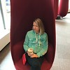 Checking out some new chairs in a renovated lobby near our hotel in Minneapolis.   We stayed at The Hotel Minneapolis.