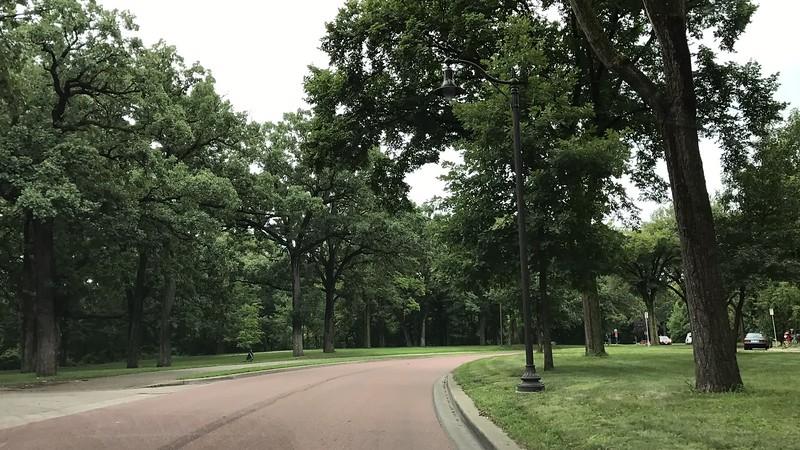Scenic road in Minneapolis.