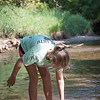 Annika in Plum Creek on the farm.
