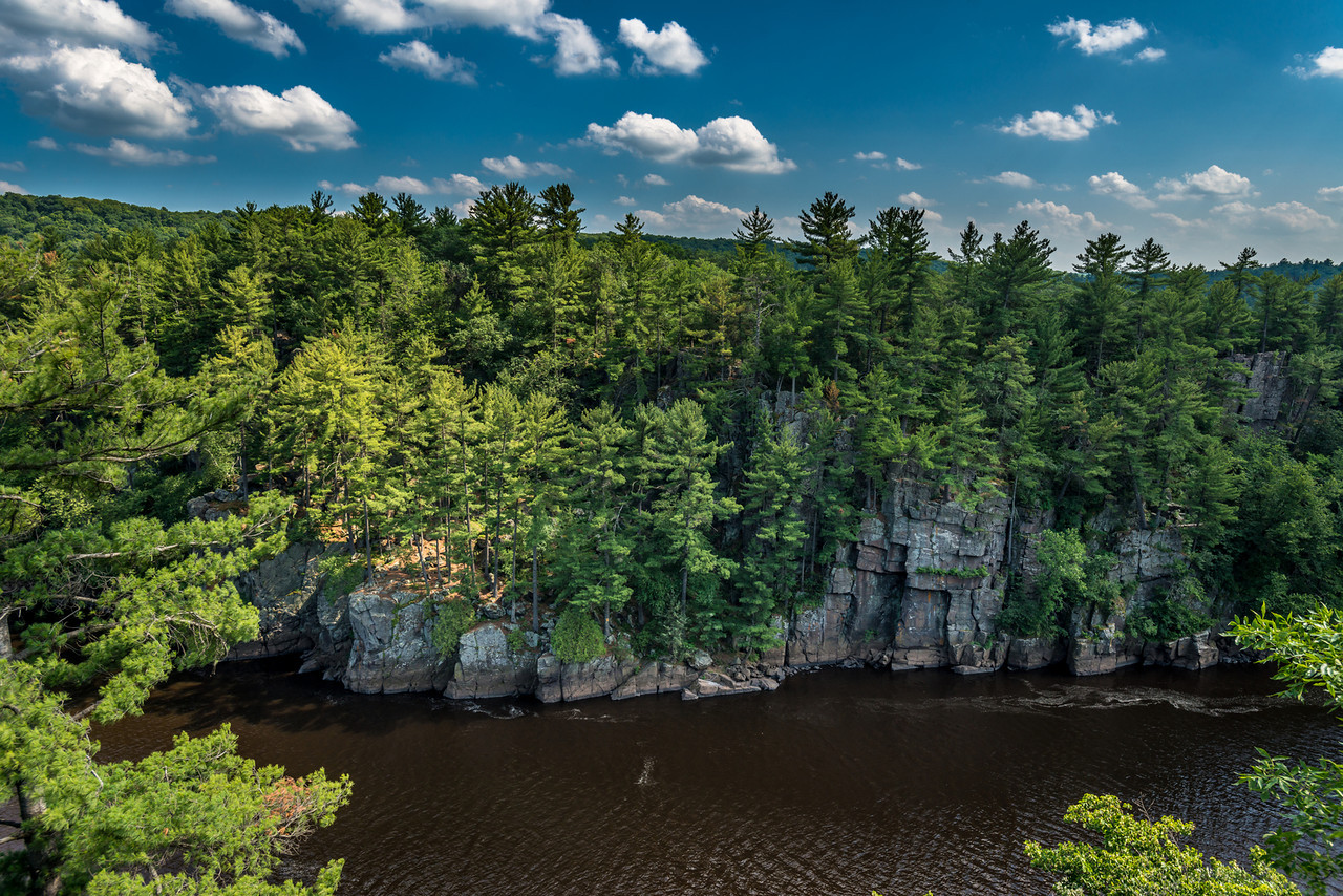 Dalles of the St Croix River. View from the River Trail