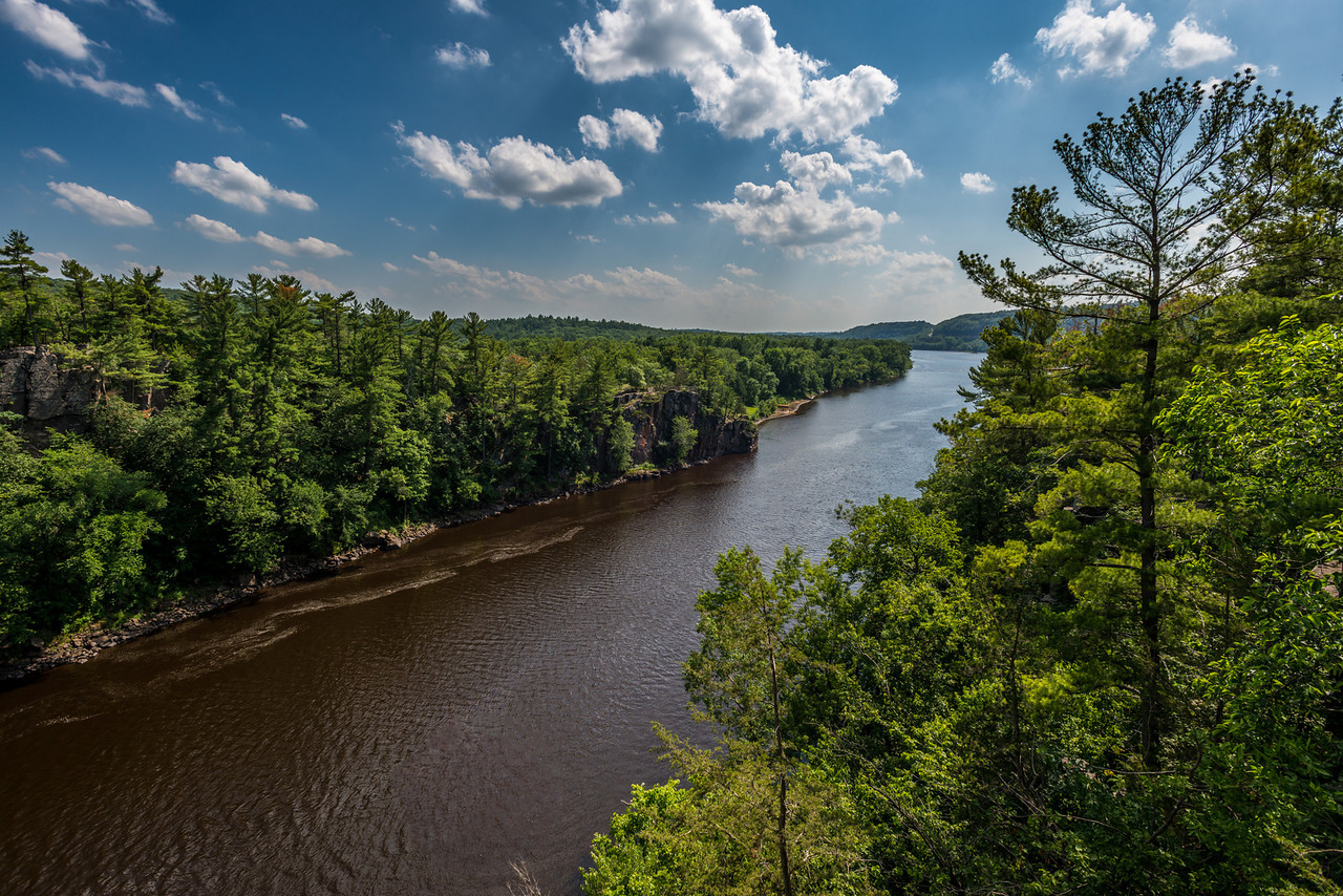 St Croix River. View from the River Trail