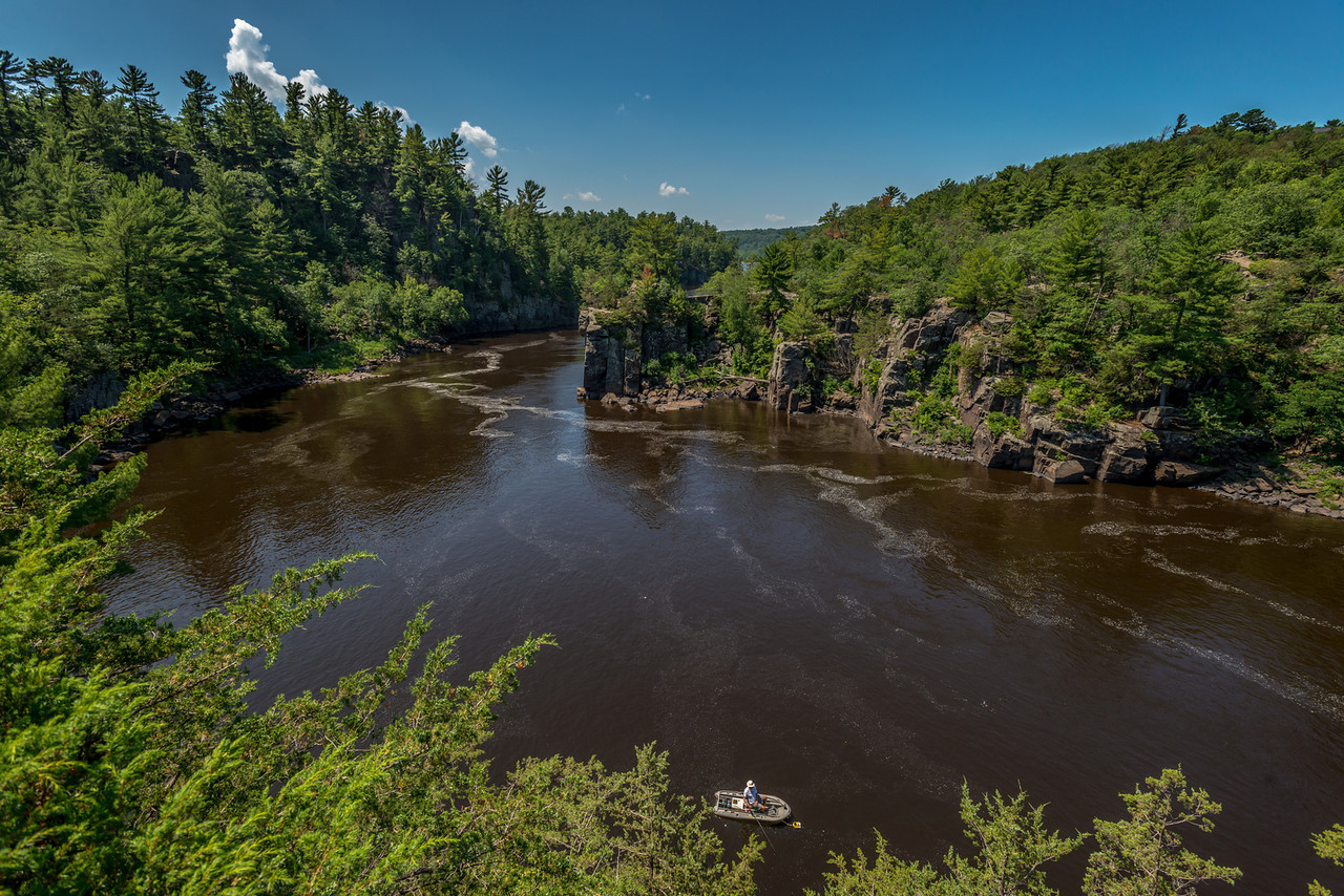 The Dalles of the St Croix River. View from the Pothole Trail (WI)
