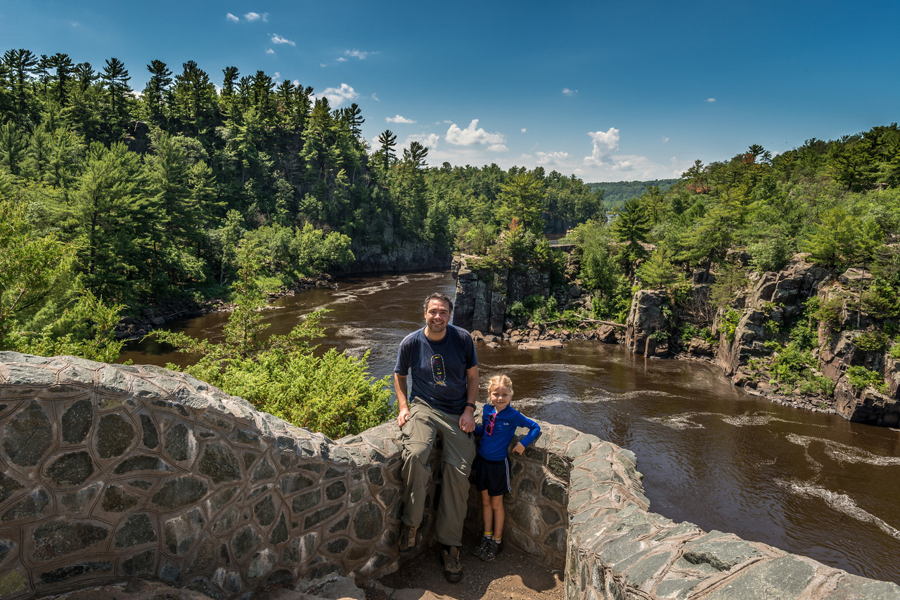 On the Pothole Trail (WI), looking into the Dalles of the St Croix River