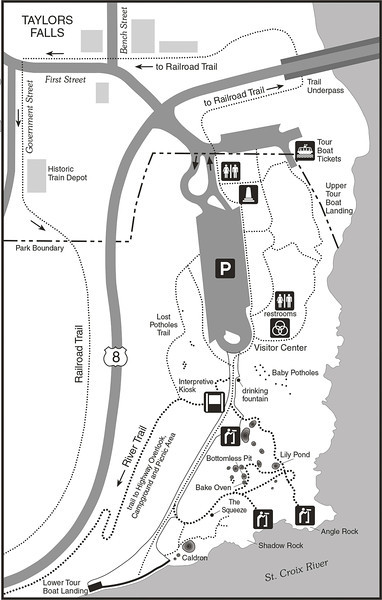 Minnesota Interstate Park - Potholes Trail map