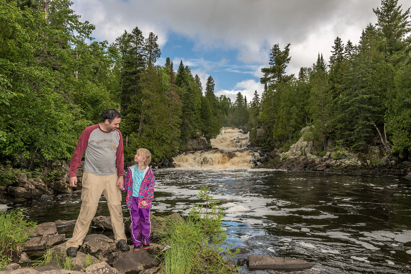 Manitou River Cascades. George H. Crosby - Manitou State Park, Minnesota